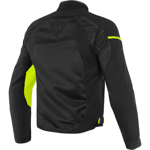 DAINESE AIR FRAME D1 TEX BLACK/BLACK/YELLOW-FLUO JACKET SUMMER WR