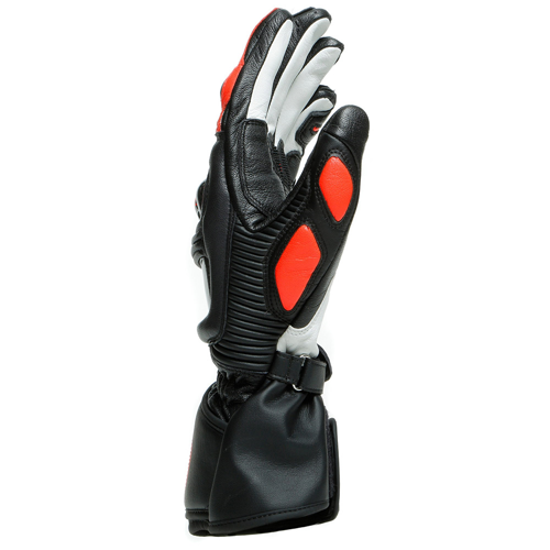 DAINESE DRUID 3 BLACK/FLUO-RED GLOVES LEATHER