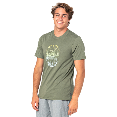 RIPCURL LIGHTHOUSE OLIVE MARLE TEE