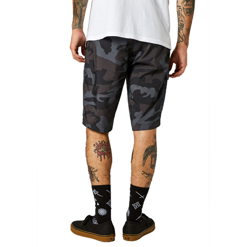 "FOX ESSEX TECH PRINT SHORT 21"" BLACK CAMO"