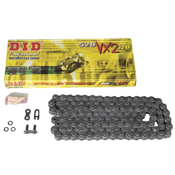 DID 520VX2 X-RING BLACK/BLACK CHAIN
