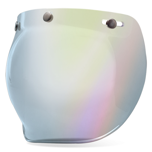 BELL 3-SNAP BUBBLE IRIDIUM SILVER VISOR FOR CUSTOM 500