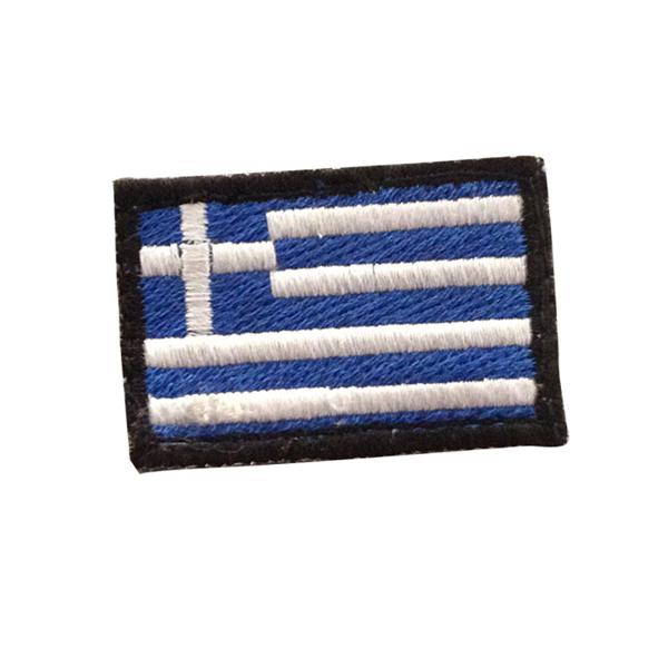 FOVOS GREEK MINI FLAG BLUE/WHITE PATCH
