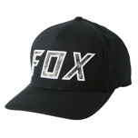 FOX DOWN N DIRTY FLEXFIT HAT BLACK/WHITE