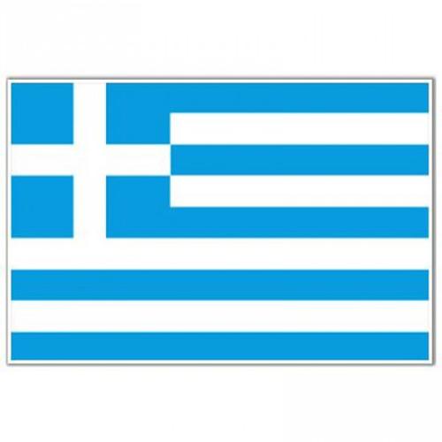 GAS GREEK FLAG BLUE/WHITE STICKER