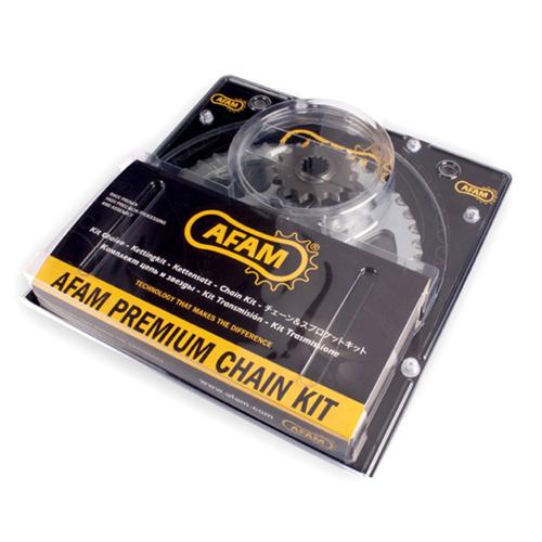 AFAM CHAIN & SPROCKETS 01659552/6G GOLD/BLACK FOR KAWASAKI KLE 500 1996-2003 (24501-17 & A520XRR-G110L & 16600-46)