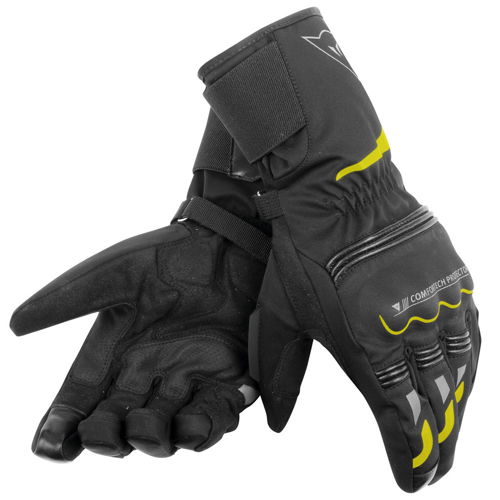 DAINESE TEMPEST UNISEX D-DRY® LONG BLACK/YELLOW FLUO GLOVES WINTER WP
