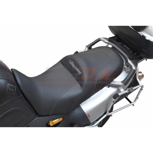 MOTO.K BLACK COMFORT SEAT+EMBROIDERY LOGO+PROSTATE SPACE+RIDER GEL HONDA VARADERO XLV-1000 MK2