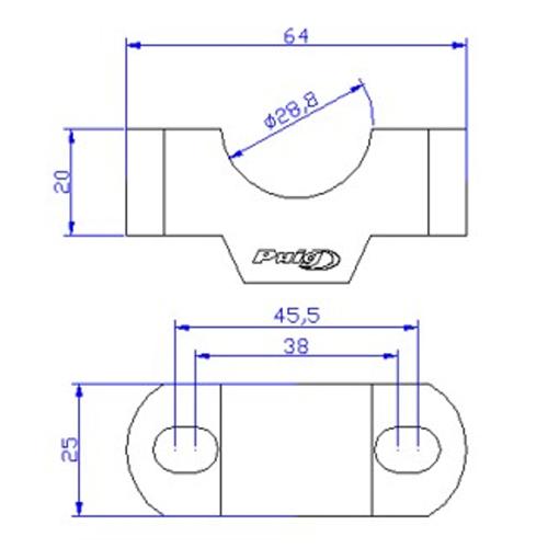 PUIG 20mm BLACK BAR RISERS FOR KTM 790 ADVENTURE/AFRICA TWIN ETC