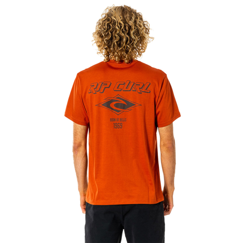 RIPCURL FADEOUT ICON TEE RED DIRT