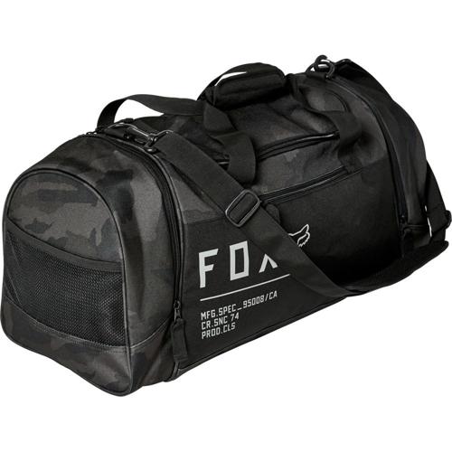 FOX 180 BLACK CAMO DUFFLE BAG