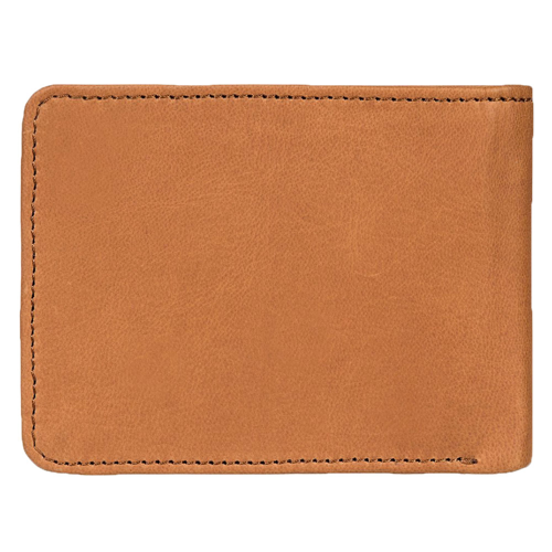 QUIKSILVER MAC TRI-FOLD LEATHER NATURAL WALLET