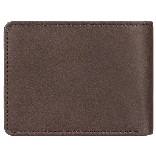 QUIKSILVER MAC TRI-FOLD LEATHER CHOCOLATE BROWN WALLET